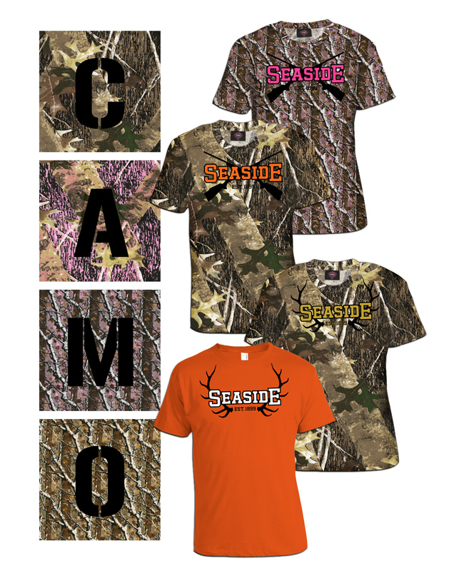 Seaside Camo T-shirts and Hoodies